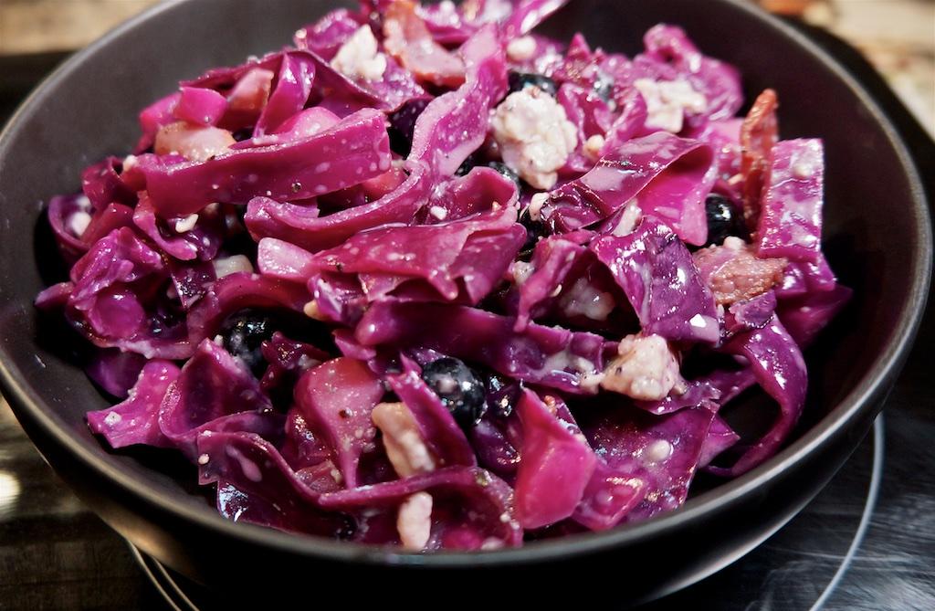 Feb 10: Chicken Wraps; Red cabbage salad