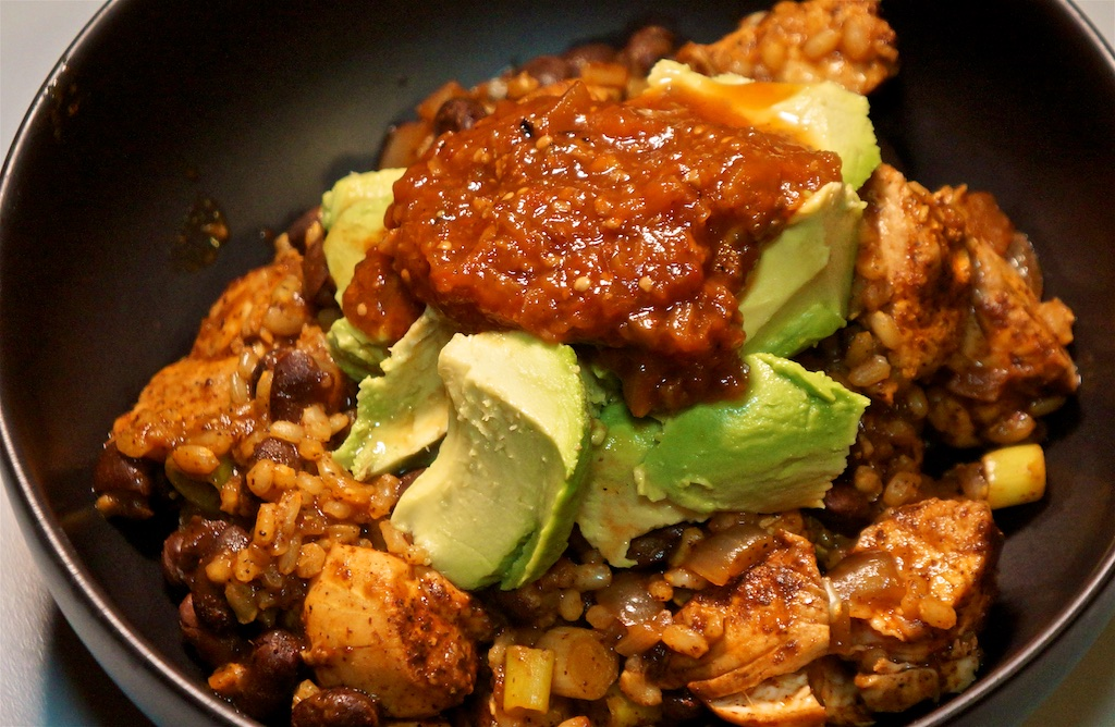 Mar 9: Alsatian Style Onion Tart; Red Chile Chicken and Rice with Black Beans