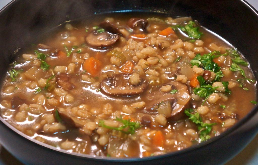 Mar 11: Steak and Ale Pie; Mushroom Barley Soup