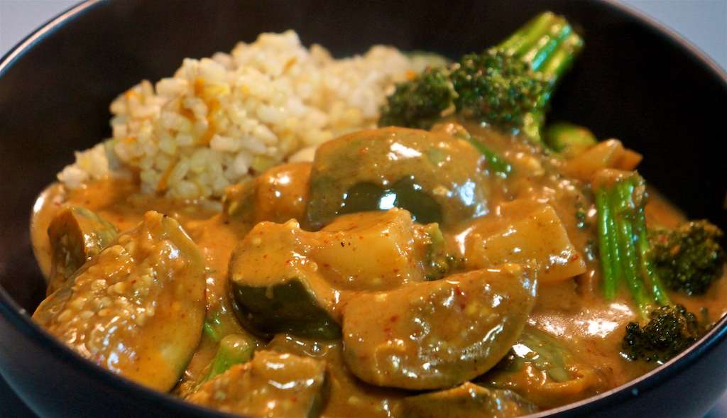 Mar 28: Double Double; Eggplant Massaman Curry