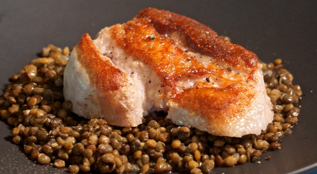 Apr 20: Tapas; Pork Belly with Lentils