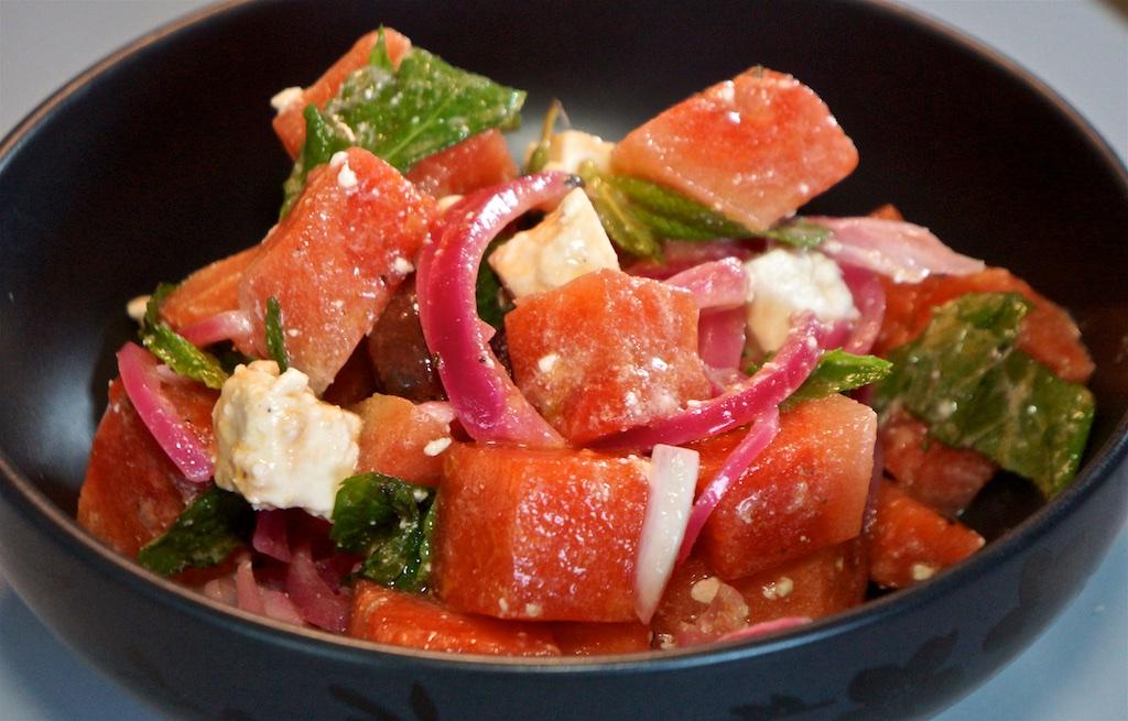 Apr 5: Chicken wraps; Watermelon Salad