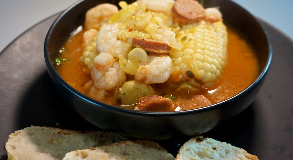 May 7: Lunch out; Frogmore Stew