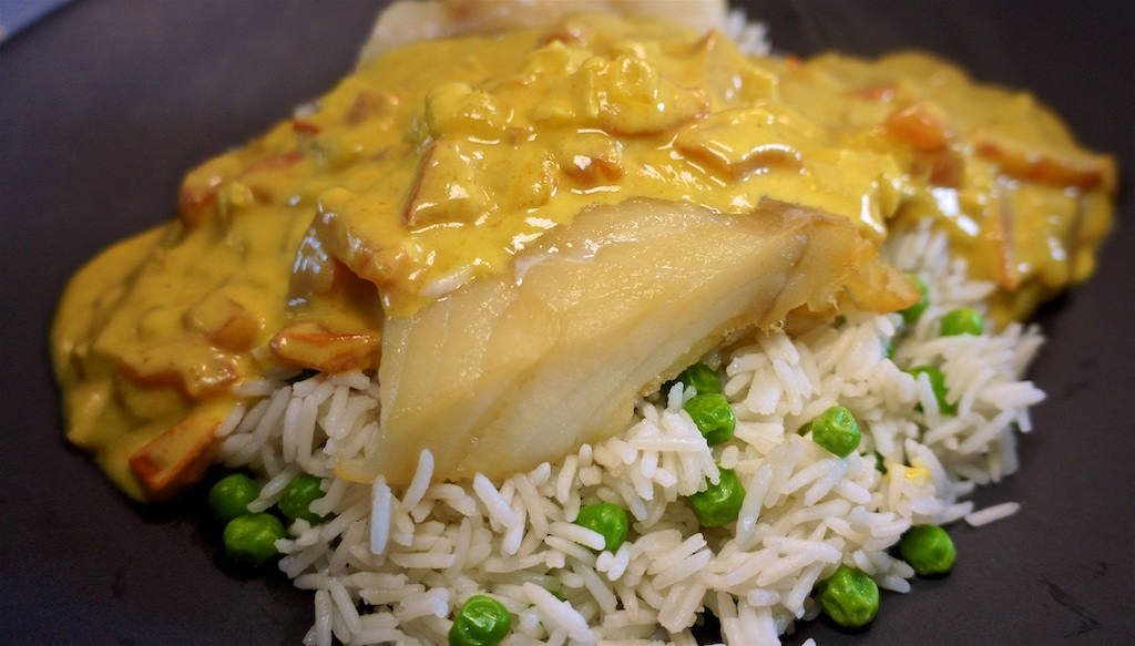 May 22: Baguette and toppings; Smoked Cod with Kedgeree sauce and rice