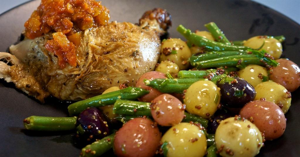 Jun 16: Summer Corn Chowder; Roast Chicken with Potato Salad