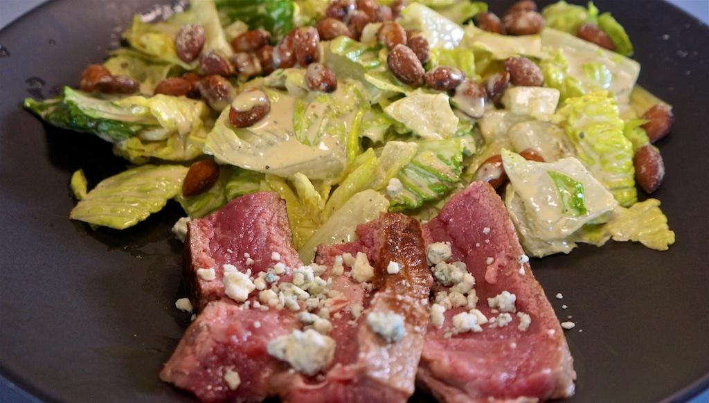 Jun 30: Quesadilla; NY Strip Steak with Caesar Salad