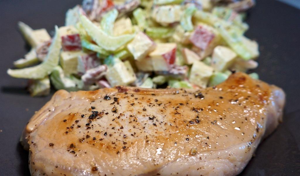 Jul 19: Gyro Wrap; Smoked Pork Chop with Waldorf Salad