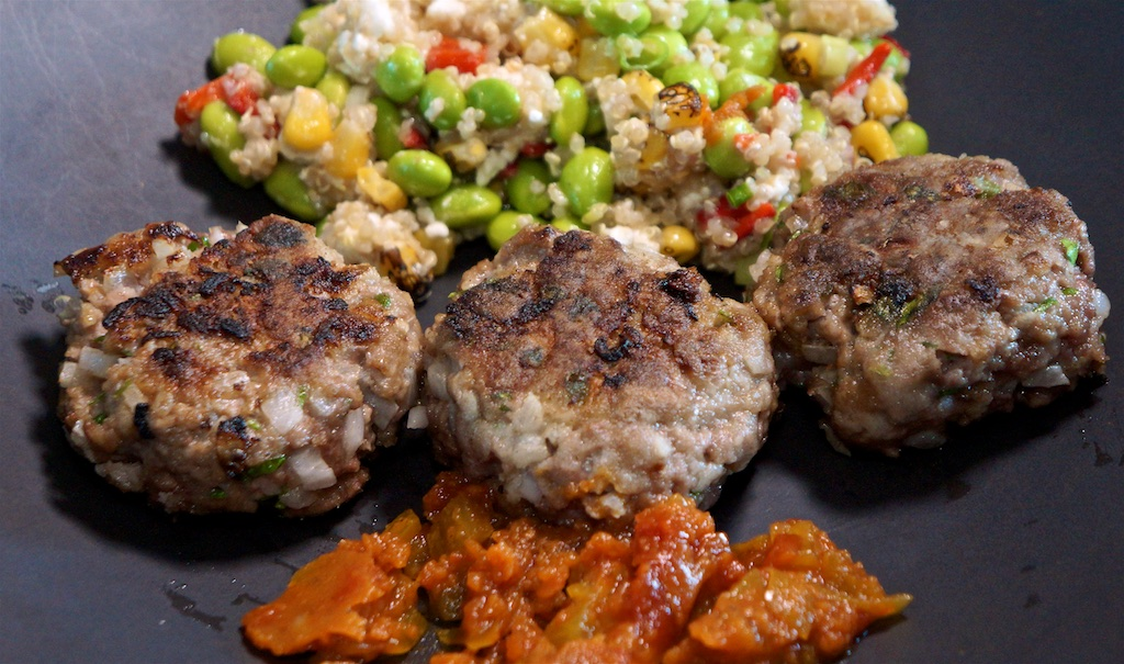Jul 24: Supermarket Sushi; Rissoles with Edamame, Quinoa and Feta Salad