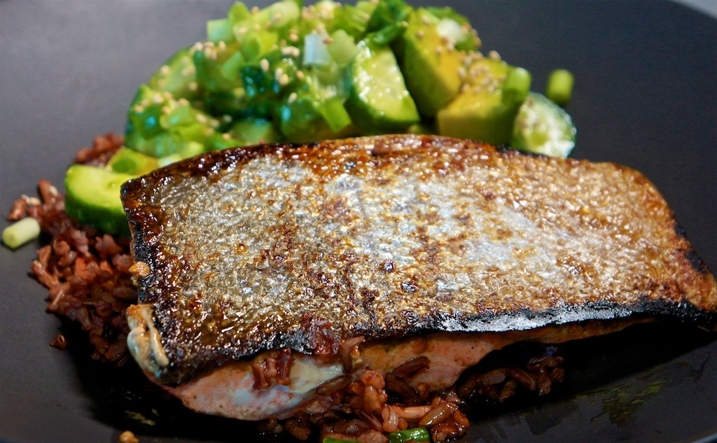 Jul 26: Turkey Wrap; Wild Sockeye Salmon with Cucumber and Avocado Rice Bowl