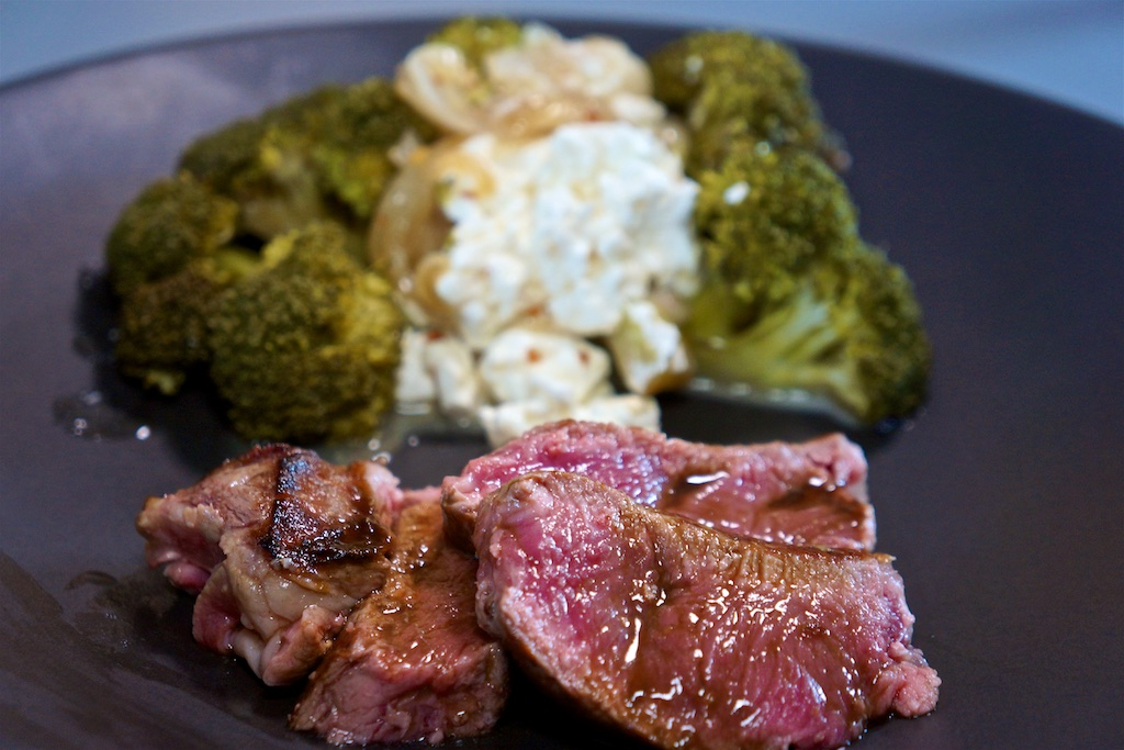 Jul 28: Gyro Wrap; NY Strip Steak with Slow Cooked Broccoli