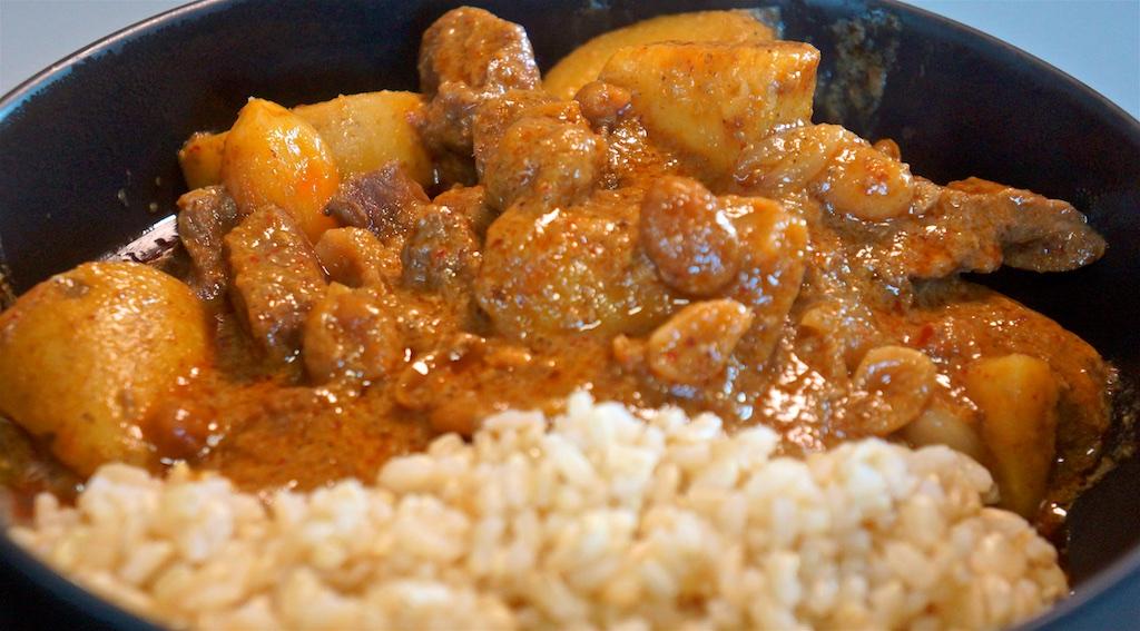 Aug 3: Chicken Wrap; Beef Massaman Curry