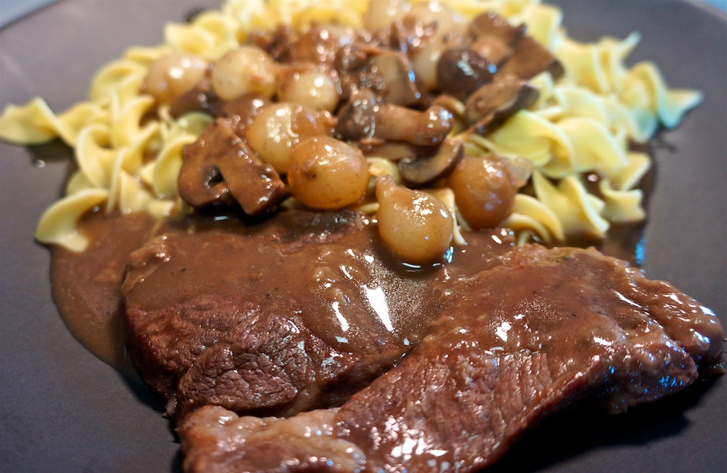 Aug 11: Japanese; Cross Rib Steak and Burgundy with Egg Noodles