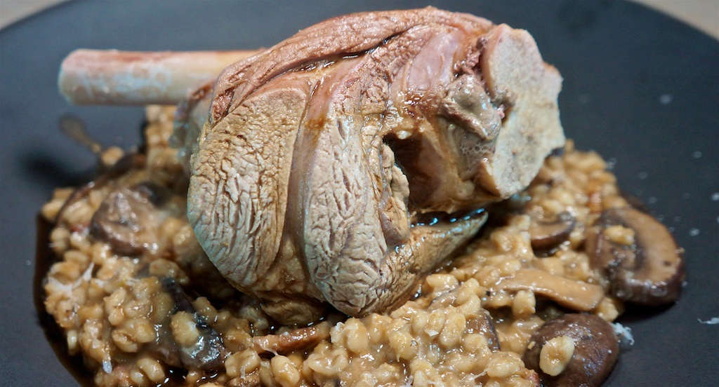 Sep 6: Sushi; Lamb Shanks with Mushroom Barley Risotto