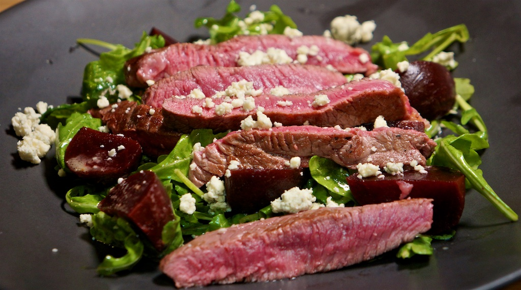 Oct 20: Country Deli; Top Sirloin with Arugula, Beets and Blue Cheese Salad