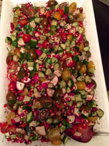 Non-traditional Fatoush salad.