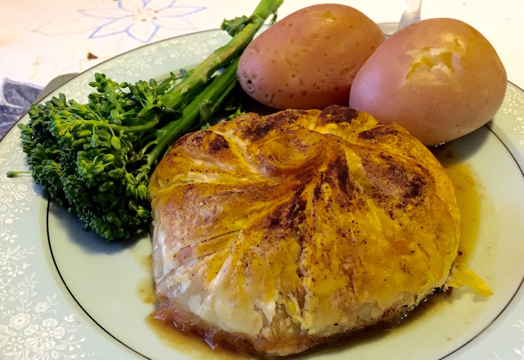 Dec 14: Kebab; Steak Diane Parcels with Potatoes and Broccolini
