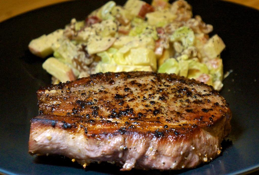 Jan 7: Supermarket Sushi; Pork Chop with Waldorf Salad