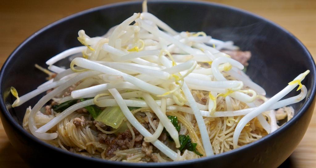 Feb 14: Yeros Wrap; Stir Fry Rice Vermicelli with Ground Pork