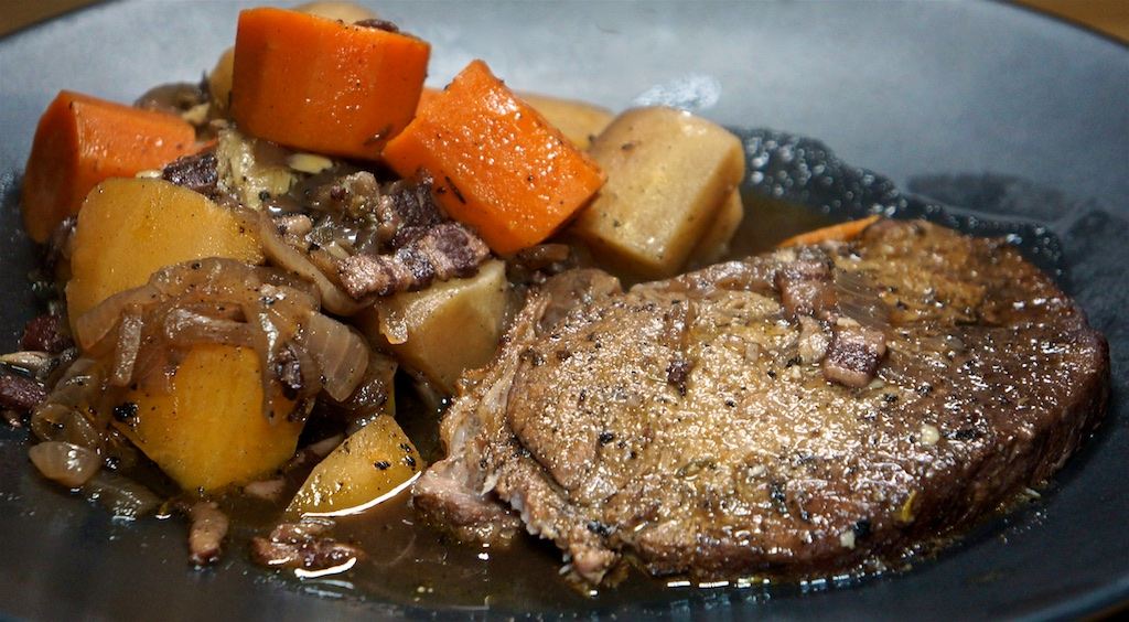 Feb 19: Chicken Wrap; Pot Roast with Winter Vegetables