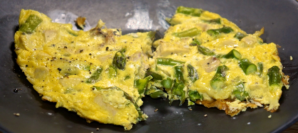 Feb 20:Asparagus and Cheese Frittata; Pot Roast with Winter Vegetables