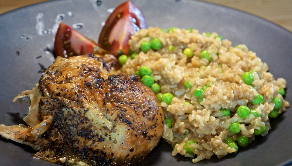 Apr 21: The Country Deli; Chicken Leg with Brown Rice Pilaf