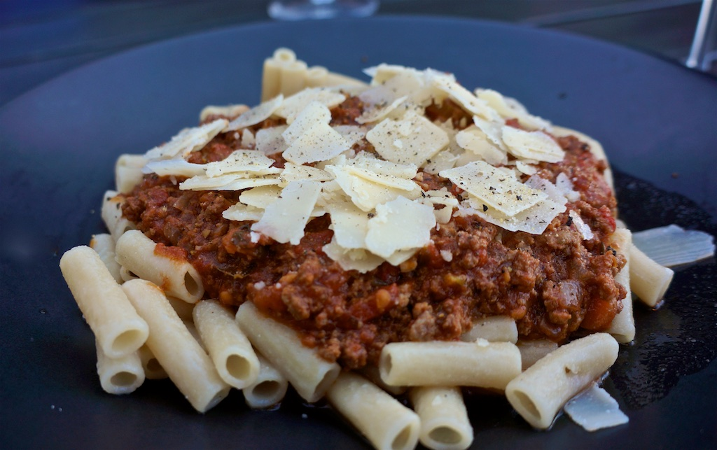 Jul 23: Lamb Pie and Sausage Roll; Bolognese with Penne and Shaved Parmesan