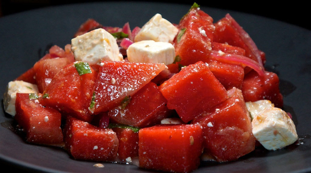 Jul 28: Roast Beef & Cheese and Relish Sandwiches; Watermelon Salad