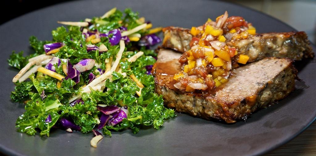 Aug 18: Chicken & Tomato Baguette; Fried Meatloaf with Kohlrabi Blend Salad