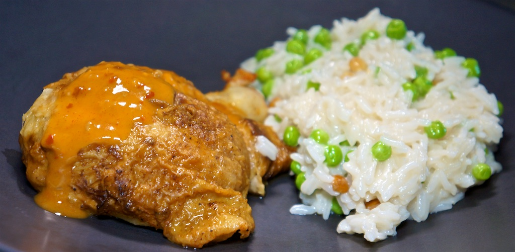 Aug 21: Double Double; Roast Chicken with Coconut Rice Pilaf