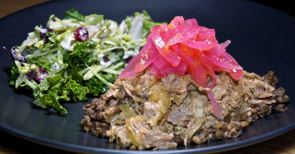Sep 10: Avocado and Sardine Sandwiches; Pulled Pork, Lentils and Sweet Kale Salad
