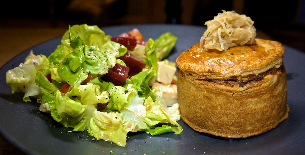Sep 12: Pulled Pork Roll; Beef and Stout Pie with Aussie Style Salad
