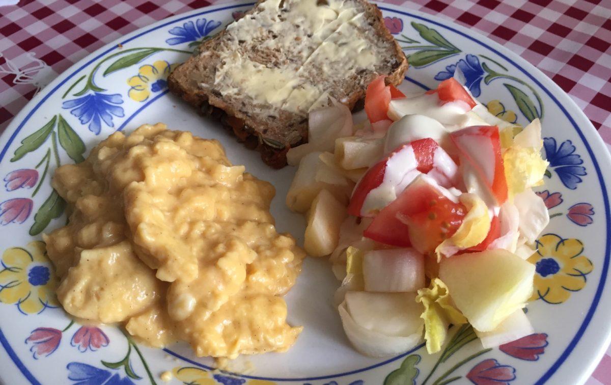 Sep 15: Scrambled Eggs and Endive Salad; Variety of Finger Food