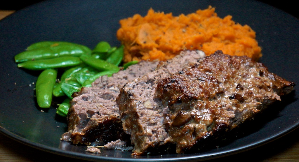 Oct 20: Split Pea Soup; Mushroom and Red Wine Meatloaf with Mashed Sweet Potato and Sugar Snap Peas