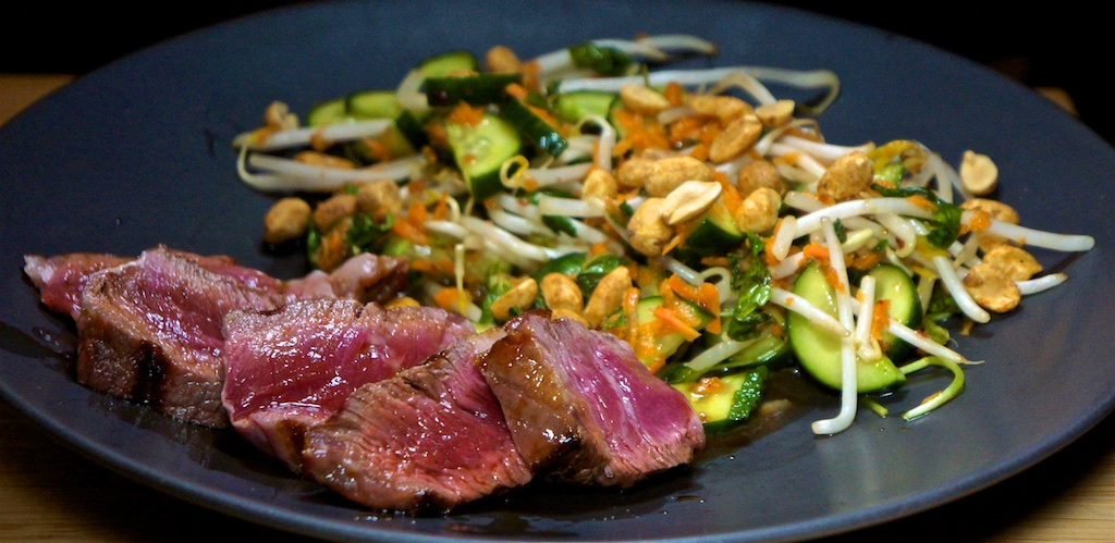 Nov 30: Chicken Salad, Silverside, Spicy Labné & Branson Pickle; Rib Eye with Vietnamese Salad