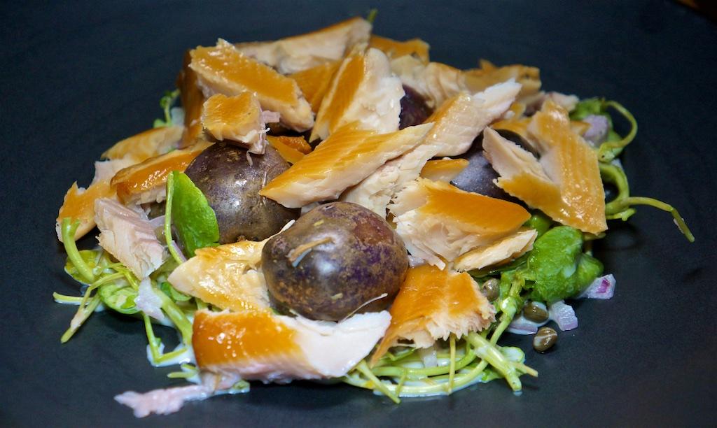Jan 13: Liverwurst, Schallot & Mustard, Roast Beef, Tabouli & Mustard Aioli; Smoked Trout Potato Salad