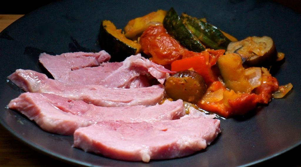 Feb 6: Tomato & Mayo; Pastrami, Sauerkraut & Cheese; Baked Ham with Japanese Ratatouille