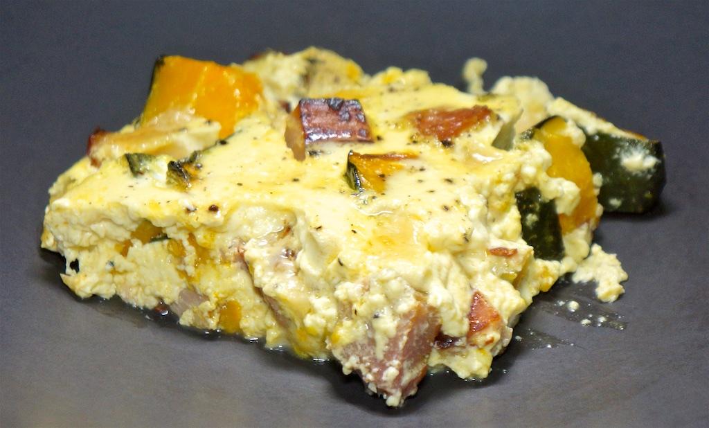 Feb 10: Ham & Cheese Quesadilla; Ham, Kabocha Squash and Cheddar Quiche