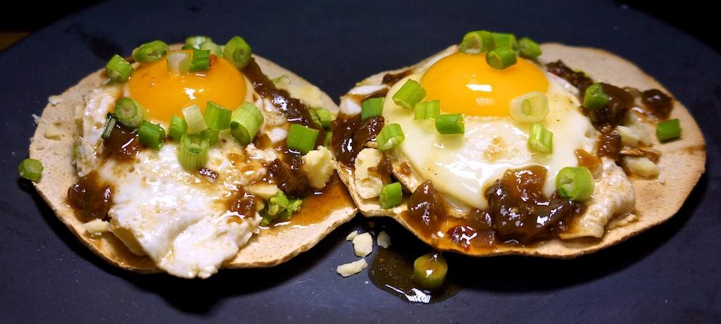 Feb 14: Popeye's Fried Chicken; Smokey Egg and Cheese Tostadas