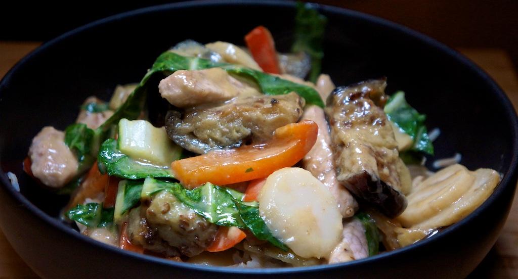 Mar 6: Sardine & Avocado Toasted Sandwich; Pork and Eggplant Stir Fry