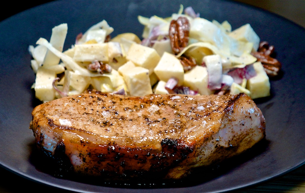 Apr 19: Ham, Avocado & Shallot; Bone In Pork Chop with Apple & Endive Salad