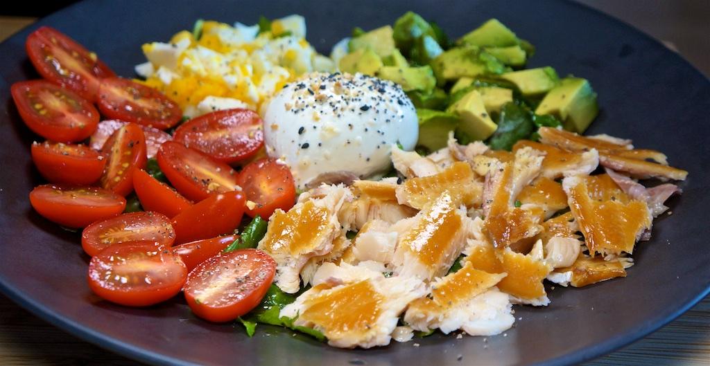 May 27: Pastrami & Tabouli, Reuben; Smoked Trout Cobb Salad