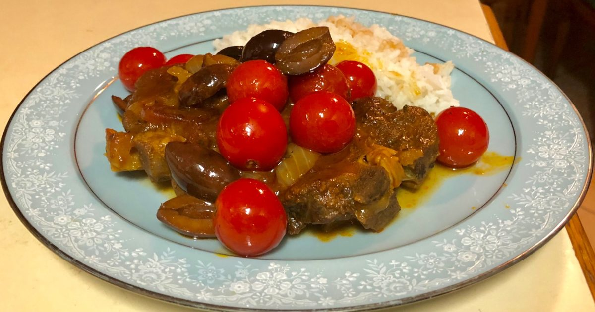 May 10: Indian Curries; Braised Lamb Shoulder Chops with Tomatoes, Rosemary, and Olives
