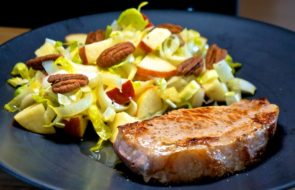 May 31: Meat Pies; Pork Chop with Apple Endive Salad