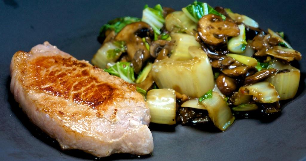 Jun 5: Smoked Salmon & Avocado Sandwiches; Boneless Pork Chop with Chinese-Style Bok Choy with Mushroom Sauce