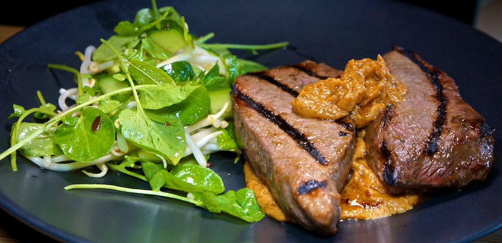 "Jun 28: Eloté and Fish & Chips; Top Sirloin with Peanut Sauce and ""Refrigerator"" Salad"