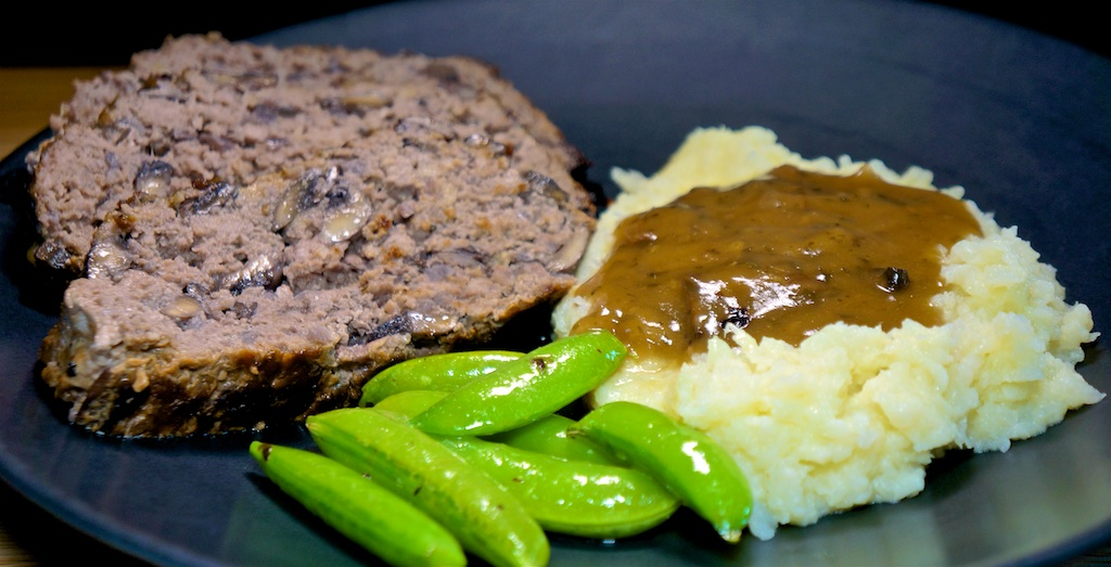 Jun 30: Tuna & Swiss, Turkey Breast, Tomato & Swiss; Red Wine Mushroom Meatloaf with Cauliflower Mash and Sugar Snap Peas