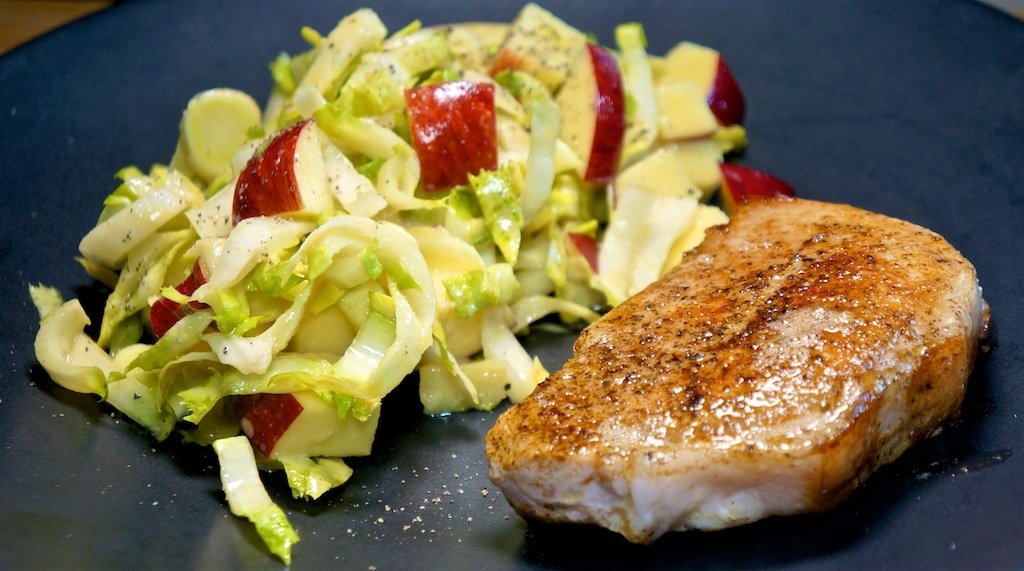 "Jul 14: Supermarket ""Sushi""; Pork Chops with Endive and Apple Salad"