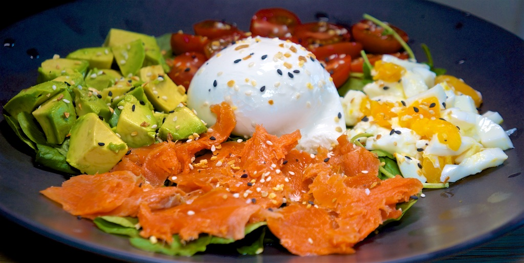 "Jul 20: Cafe Firenze; Smoked Salmon ""Cobb"""