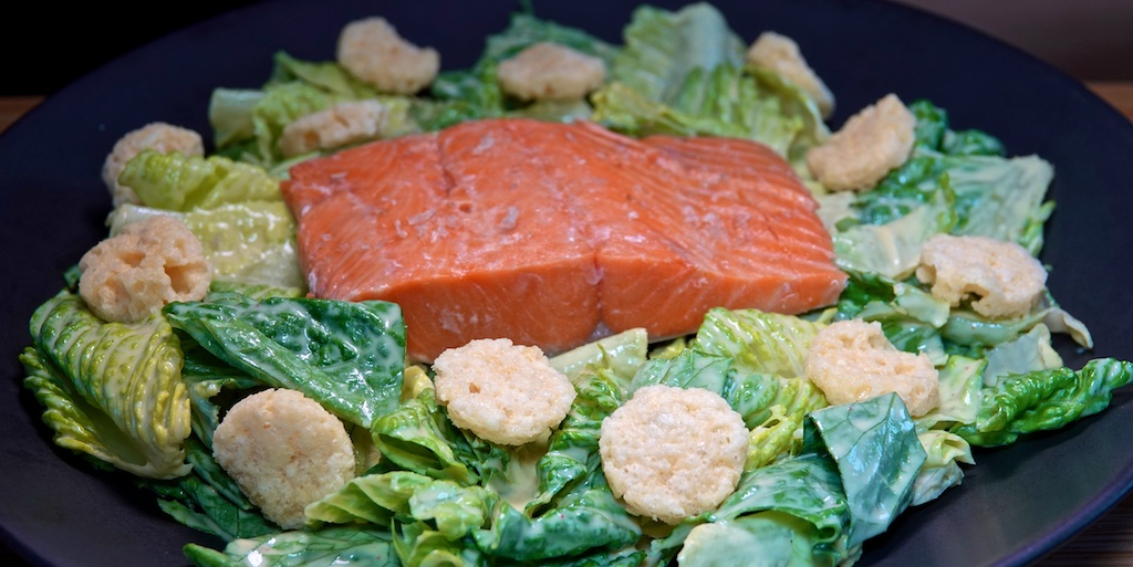 Aug 17: Popeye's Fried Chicken; Sous Vide Wild Caught Salmon with Caesar Salad