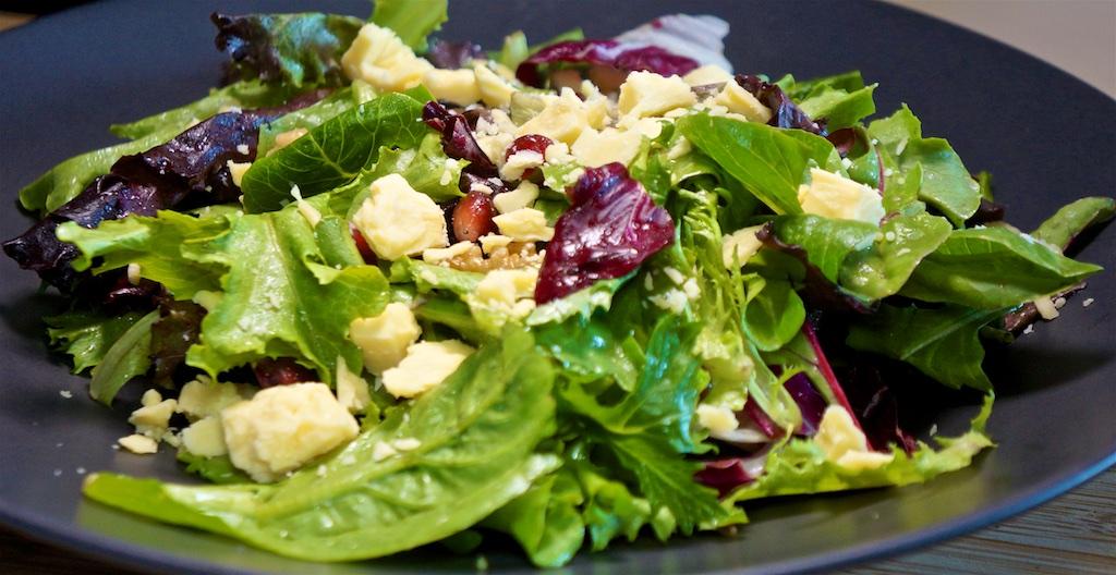 Aug 6: Ground Beef with Onion, Garlic and Spinach; Organic Apple Dijon Salad